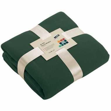Fleece deken donkergroen