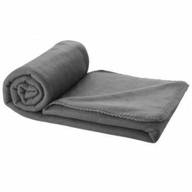 Fleece deken grijs 150 x 120 cm