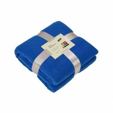 Fleece deken kobaltblauw