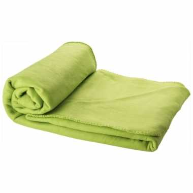 Fleece deken lime 150 x 120 cm