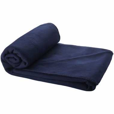Fleece deken navy 150 x 120 cm