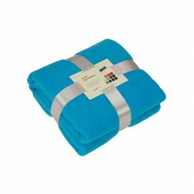Fleece deken turquoise