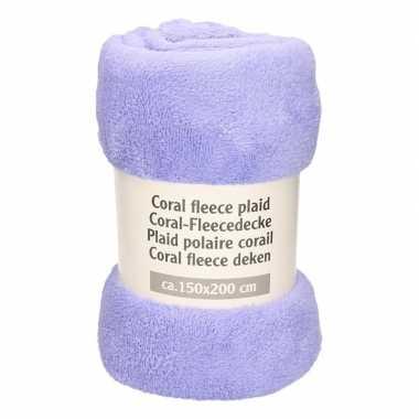 Lavendel fleece deken 150 x 200 cm