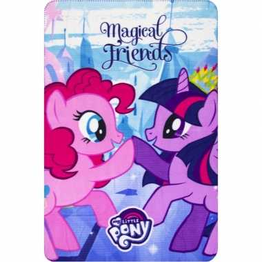 My little pony friends fleece deken/plaid voor meisjes