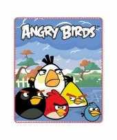 Fleece deken angry birds blauw