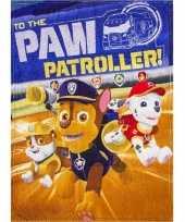 Paw patrol fleece deken voor jongens