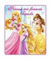 Prinsessen fleece deken voor meisjes