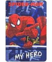 Spiderman fleece deken plaid blauw rood voor jongens