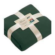 2x fleece dekens plaids met franjes rood 130 x 170 cm 10163999